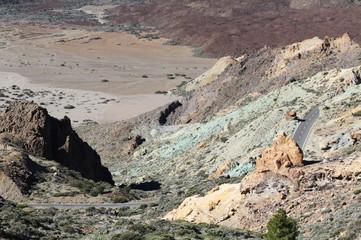 The mountain road near the Teide