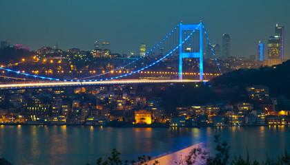Fatih Sultan Mehmet Bridge at the night 3