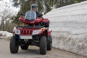 Mit dem ATV / Quad im Winter