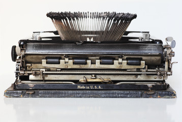 ancient portable typewriter