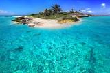 Fototapety Caribbean island with perfect lagoon
