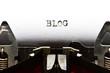 typewriter with text blog
