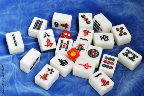 Chinese mahjong tiles
