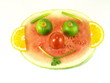 Happy watermelon, isolated