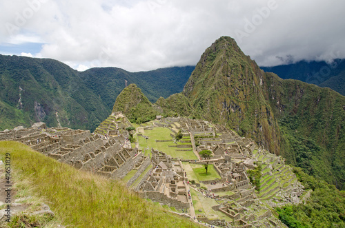 Ruins of the ancient Inca village Machu Picchu