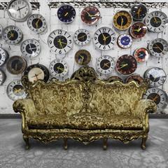 luxury sofa  in retro room