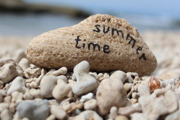 Summer Time - Written on a rock at the beach