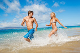 Young Couple on Tropical Beach