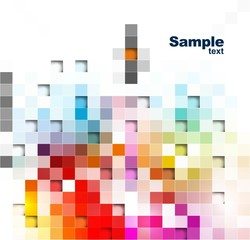 abstract colorful mosaic background vector