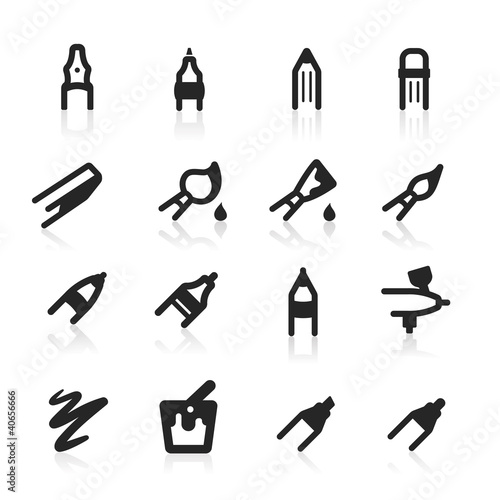 Graphic tools icons set - simple series