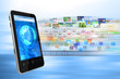 Multimedia internet from a smartphone concept