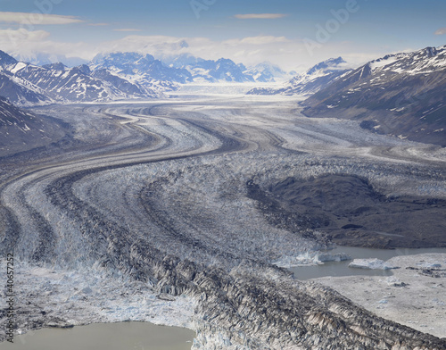 Gletscher, St Elias Range, Kanada