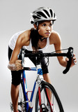Road racing bicycle woman