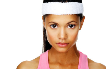 focussed sport portrait