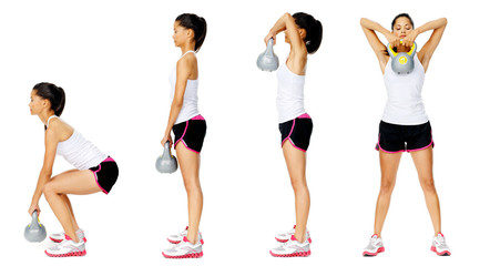 Kettlebell dumbell exercise