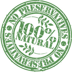 Grunge no preservatives 100 percent natural rubber stamp
