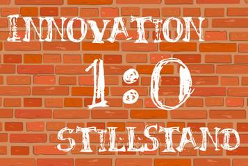 Backsteinwand Innovation