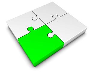 Puzzle grün