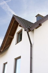 Downspout on a Home