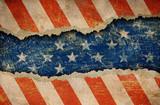 Grunge ripped paper USA flag pattern - 40663044