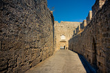 Ancient streets of  Rhodes Island