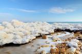 mrtvé moře formace salt poblíž ein gedi, izrael