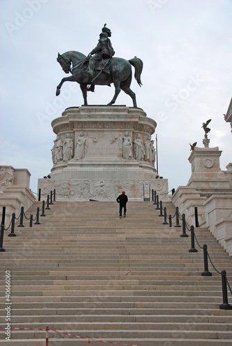 Sculpture of the king Victor Emmanuel at the Vittoriano