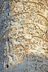 Rome The Column of Marcus Aurelius column detail