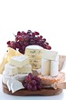Cheese platter and grapes
