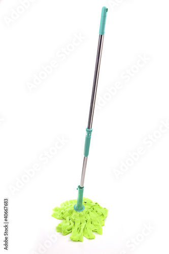 Mop isolated on white background