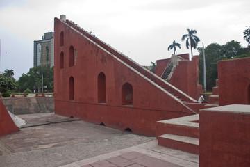 Astronomical instrument in Jantar Mantar, Delhi, India