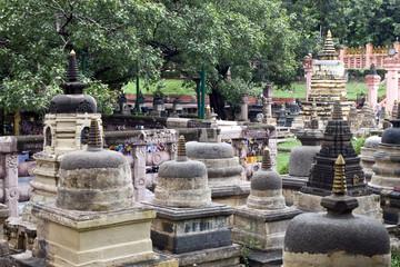 Surroundings of Mahabodhi temple in Bodhgaya, India.