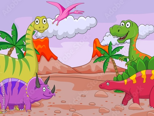 Fotobehang Dinosaurs Dinosaur cartoon