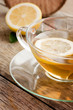 Cup of organic lemon fruit tea