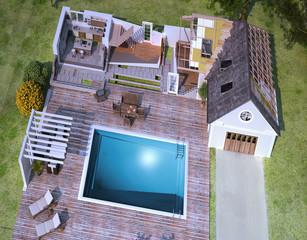 maison en construction, batiment et architecture 01