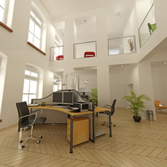 modern architecture contempory, interior, loft business 03
