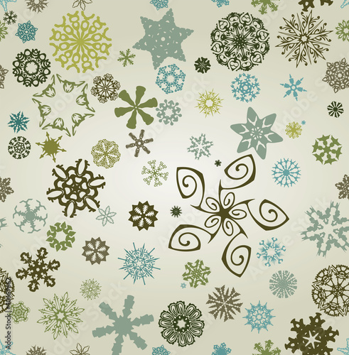 Seemless snowflakes background