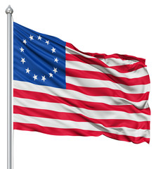 Waving Flag of Betsy Ross