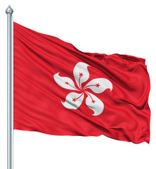 Waving Flag of Hong Kong