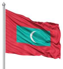 Waving Flag of Maldives