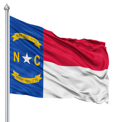Waving Flag of USA state North Carolina