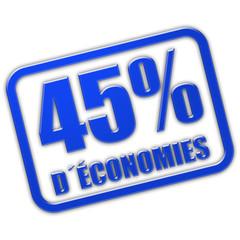 Stempel blau glas 45% D´ÉCONOMIES