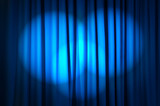 Fototapety Brightly lit curtains in theatre concept