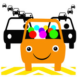 colorful carpool