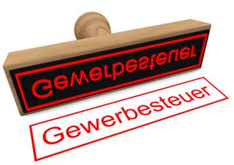 """Stempel """"Gewerbesteuer"""""""