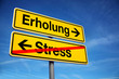 canvas print picture - Erholung vom Stress