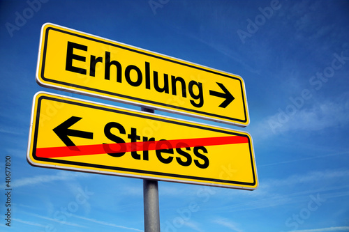 canvas print picture Erholung vom Stress