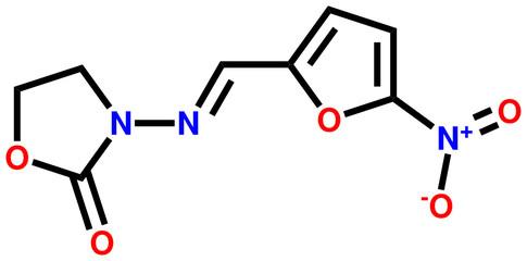 Antibacterial furazolidone structural formula