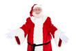 Weihnachtsmann mit einladender Gestik
