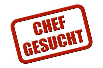 Stempel rot rel CHEF GESUCHT